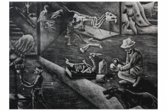 We are always working<br/>Lithography<br/>12 x x48 Inches<br/>2015