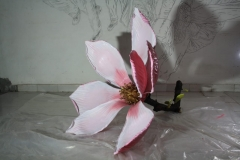 Pink Magnolia    <br/>57 x 42 x 41    <br/>PU paints on brass    <br/>2019