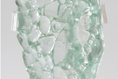 Crushed Fused glass<br/> 9 x 5 x 1.5 inches<br/> 2020