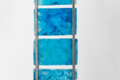 Blue Spaces<br/> Thet tower Cast glass and pigment<br/> 8 x 10 x 2 each block of cast glass<br/> 2009